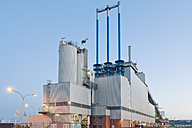 Germany, Hamburg, sludge incineration plant at harbour district - MSF004735