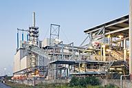 Germany, Hamburg, sludge incineration plant at harbour district - MSF004734