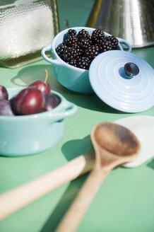 Kitchen utensils for preparing blackberry and plum jam - GISF000163