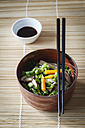 Bowl of miso soup with carrots, champignons and savoy - EVGF002247