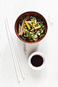 Bowl of miso soup with carrots, champignons and savoy - EVGF002252