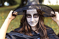 Portrait of masquerade girl at Halloween - MGOF000748