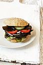 Homemade veggie burger, mushroom lentil fritter - EVGF002386