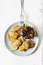 Vegetable fritter on plate - EVGF002395