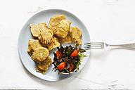 Vegetable fritter on plate - EVGF002397