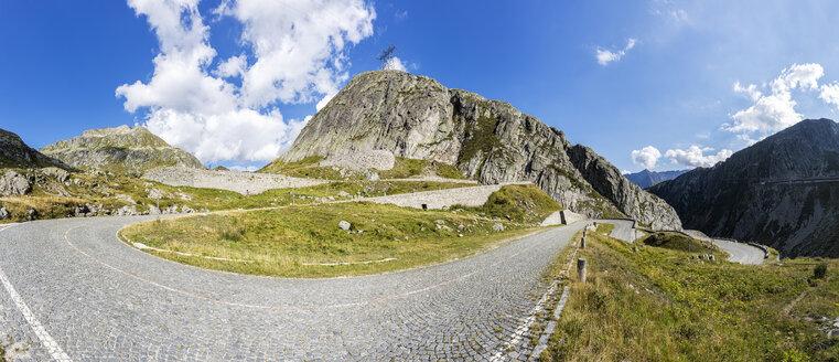 Switzerland, Ticino, Tremola, view to Gotthard Pass - STSF000923