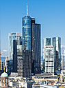 Germany, Hesse, Frankfurt, Financial district, Helaba and Deutsche Bank - AMF004259