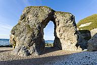 North Ireland, County Antrim, Portrush, Whiterocks beach, rock arch - KLRF000130