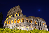 Italy, Rome, Colosseum at night - KLRF000154