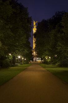 Germany, Berlin Victory Column at night - NKF000405
