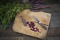 Chopped Purple Haze on wooden board - LVF003914