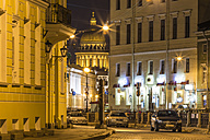 Russia, Saint Petersburg, St. Isaac's Cathedral at night - KNT000090
