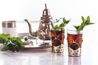Traditional North African nana mint tea - SBDF002288