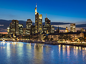 Germany, Frankfurt, River Main, skyline of finanial district in background - AMF004313