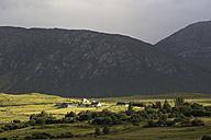 Ireland, County Galway, View of hills of Connemara, lighting mood - ELF001625