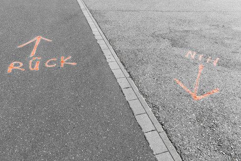 Germany, Monchengladbach, Borussia Park, Handwritten street marks - VIF000421