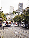 USA, San Francisco, Cable Car at Taylor Street - SBD002321