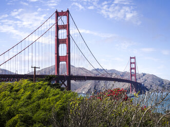 USA, San Francisco, view to Golden Gate Bridge - SBDF002324