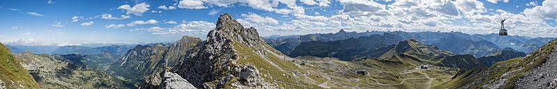 Germany, Bavaria, Oberstdorf, panoramic view from Nebelhorn - FR000348