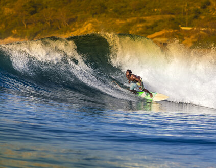 Indonesia, Lombok, surfing man - KNTF000119