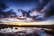 Scotland, East Lothian, Sunset across Aberlady Bay - SMAF000372