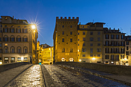 Italy, Tuscany, Florence, Ponte alle Grazie in the evening - FOF008352