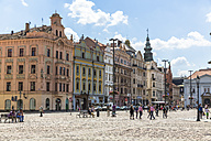 Czechia, Plzen, row of old houses built in Renaissance style at Square of the Republic - MABF000341