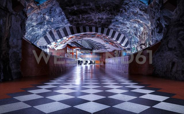 Sweden, Stockholm, passageway in the underground - MPA000042
