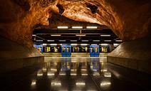 Sweden, Stockholm, underground station with train - MPA000048