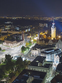 Germany, Saxony, Leipzig, Aerial image with New Townhall and St. Trinitatis Church - MELF000109