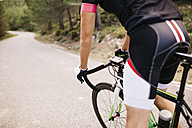 Cyclist with racing cycle - JRFF000158