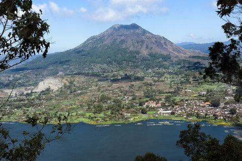 Indonesia, Bali, Kintamani, Volcano Batur and lake Danau Batur - WE000395