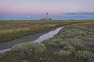 Germany, Schleswig-Holstein, North Sea Coast, View of Westerheversand Lighthouse - KEBF000255