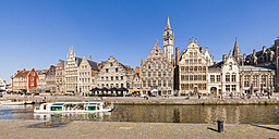 Belgium, Ghent, old town, historical houses at River Leie - WD003359