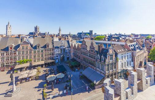 Belgium, Ghent, old town, Sint-Veerleplein square - WDF003362