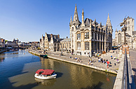 Belgium, Ghent, old town, historical houses at River Leie - WDF003365