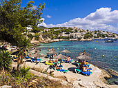 Spain, Mallorca, Beach and bay of Cala Fornells - AM004372