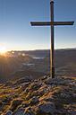 Austria, Tyrol, Kufstein, View from Pendling at sunrise - MKFF000263