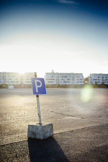 Parking sign on old runway - DASF000018