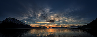 United Kingdom, Scotland, Loch Linnhe at sunset - ALR000110