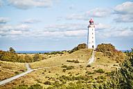 Germany, Mecklenburg-Western Pomerania, Hiddensee, Dornbusch, view to landscape and lighthouse - SEGF000428