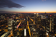 Germany, Hesse, Frankfurt, Cityview, blue hour - WIF002893