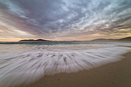 Spain, Ferrol, San Jorge beach at sunset, long exposure - RAEF000653