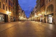 Poland, Torun, view to Szeroka street at evening twilight - ABO000044