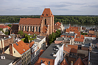 Poland, Torun, view to historic city centre from above - ABOF000050