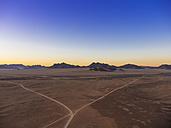 Africa, Namibia, Hardap, Hammerstein, Kulala Wilderness Reserve, Tsaris Mountains, Sossusvlei Region, Namib desert at sunset - AMF004429