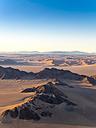 Africa, Namibia, Hardap, Hammerstein, Kulala Wilderness Reserve, Tsaris Mountains, Sossusvlei Region, Namib desert at sunset - AMF004438