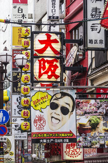 Japan, Osaka, Dotonbori, Commercial signs - THA001477