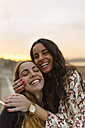 Portrait of two female friends having fun together - MGOF001081