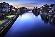 Germany, Bavaria, Franconia, Bamberg, Regnitz River at night - VT000487